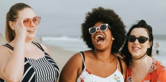 Plus Size Casting Calls - Cheerful diverse plus size women at the beach